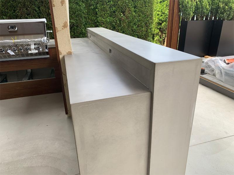 Two Tier Outdoor Countertop