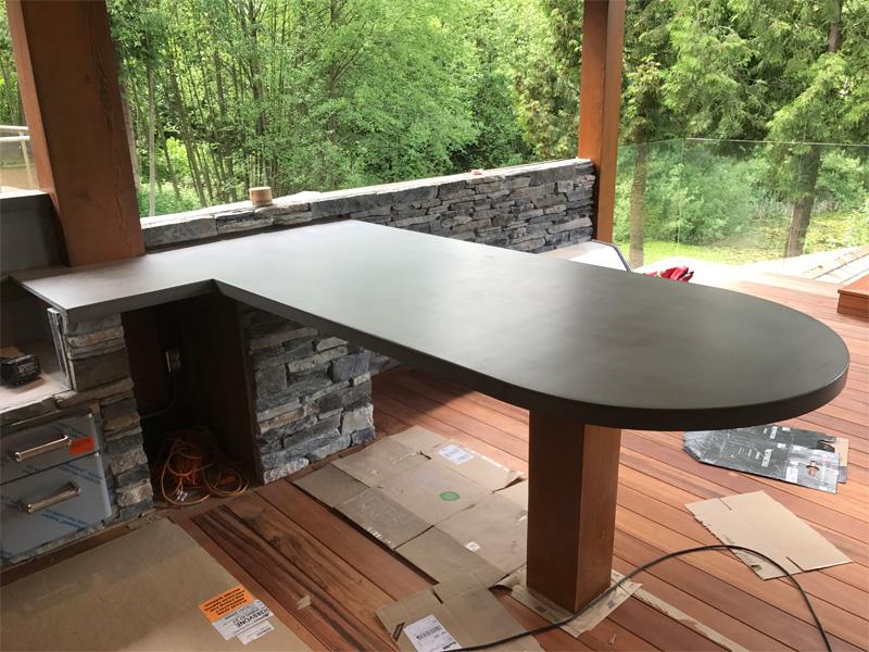 Outdoor Kitchen Countertops - Diamond Finish