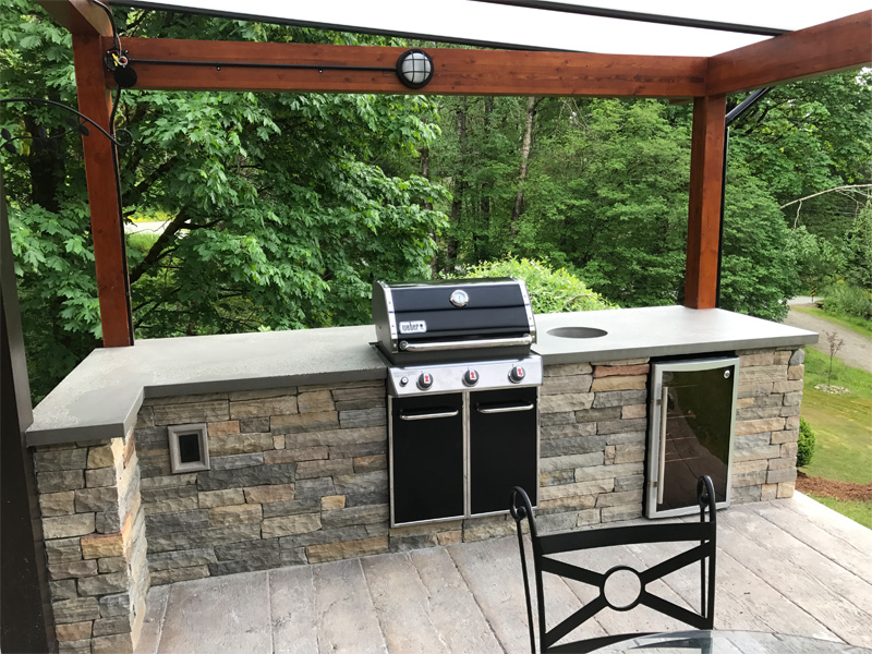 Summer Deck BBQ Cooking Space - Diamond Finish