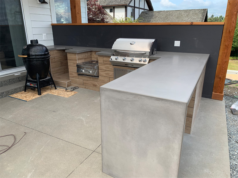 Outdoor Cooking Space - Diamond Finish