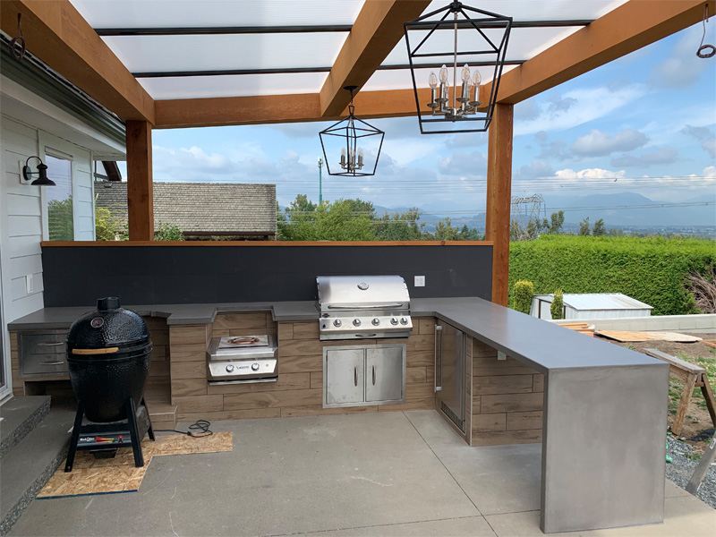Functional Outdoor Cooking Space - Diamond Finish