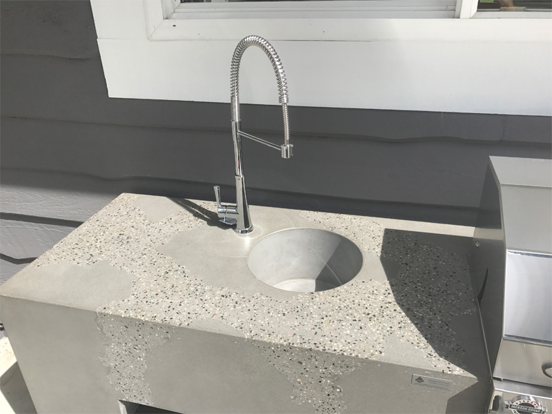 Outdoor Concrete Countertop Sink