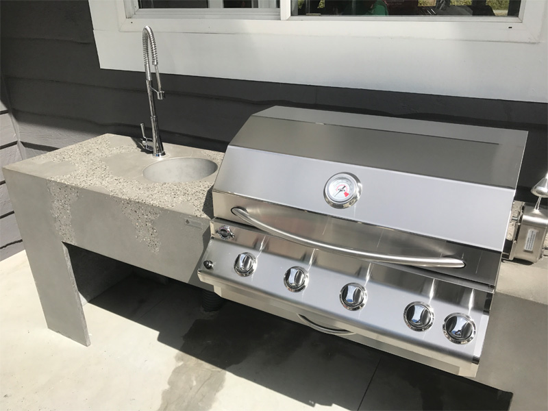 BBQ and Concrete Cooking Areas