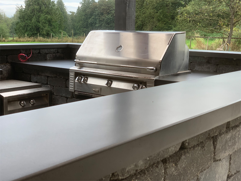 Countertop Outdoor BBQ Cooking - Diamond Finish