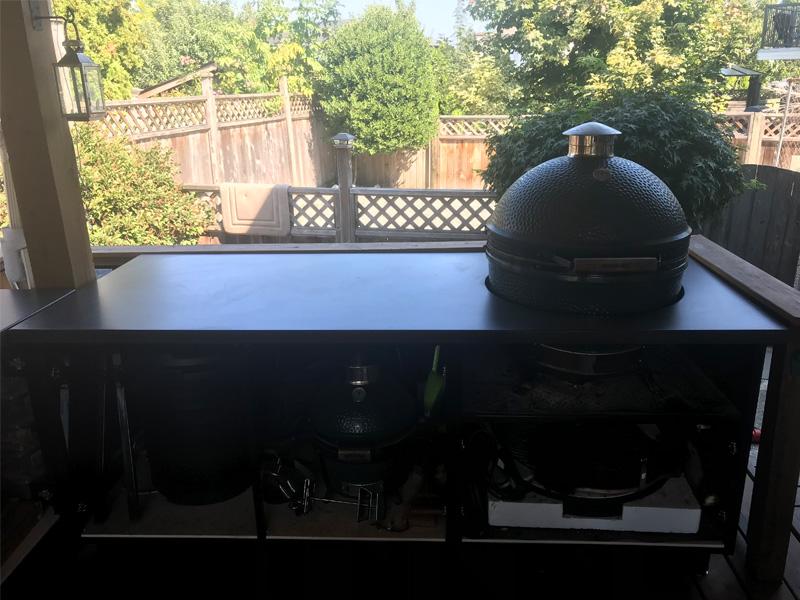 Custom Cut Outdoor Countertops - Diamond Finish