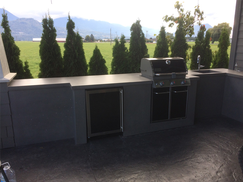 BBQ Cooking Space - Diamond Finish Concrete