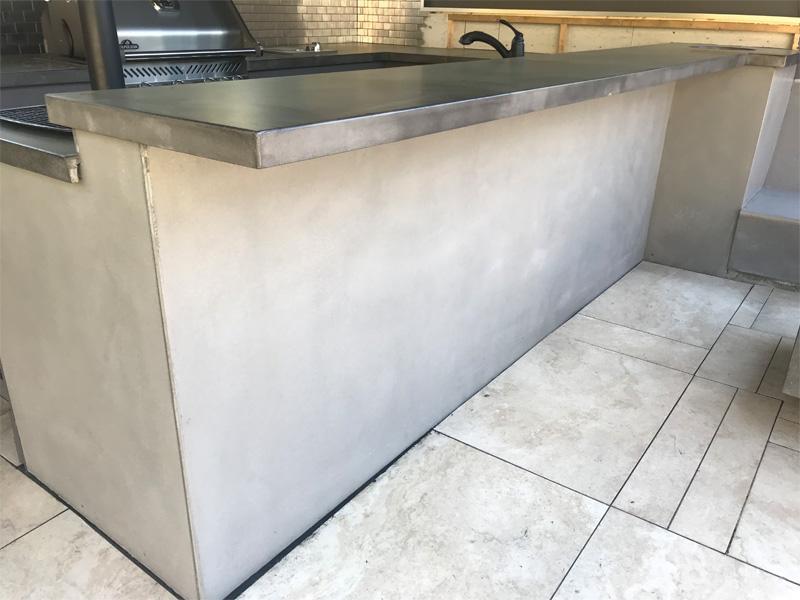 Concrete BBQ Countertop - Diamond Finish