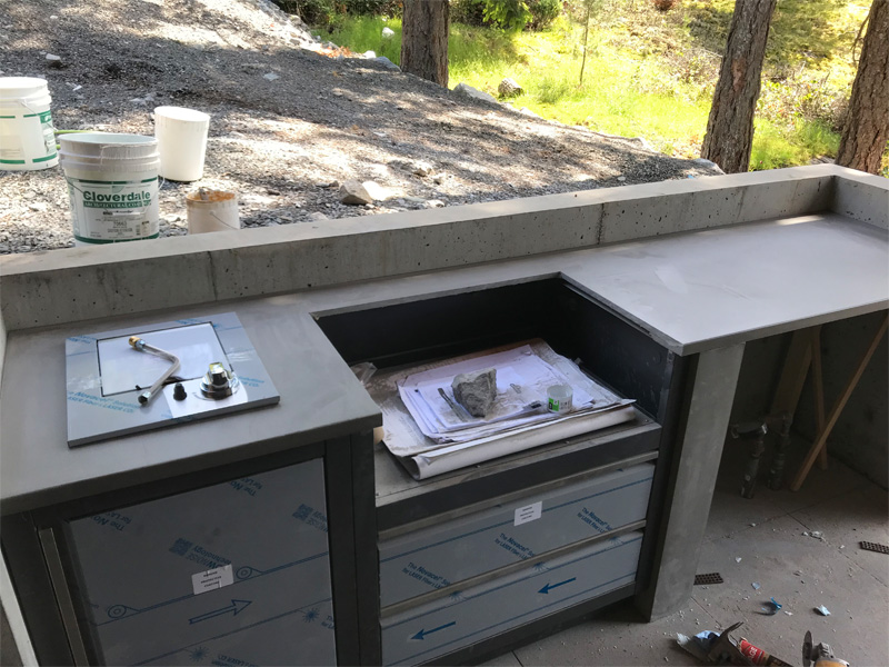 Outdoor Cooking Area BBQ's - Diamond Finish