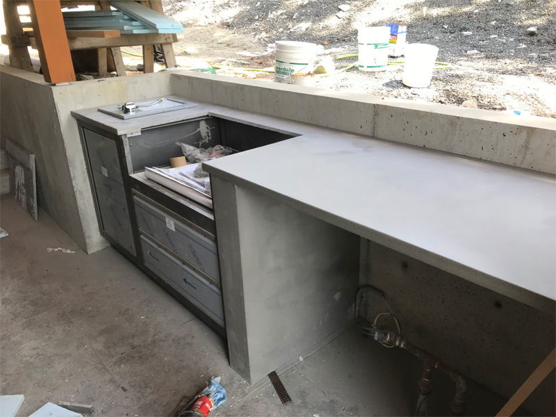 Outdoor Cooking Area - Diamond Finish
