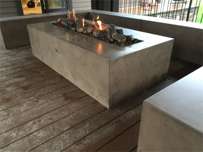 Concrete Fire Pit and Table Features