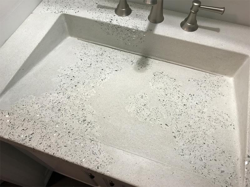 Unique Concrete Designed Slanted Sink - Diamond Finish