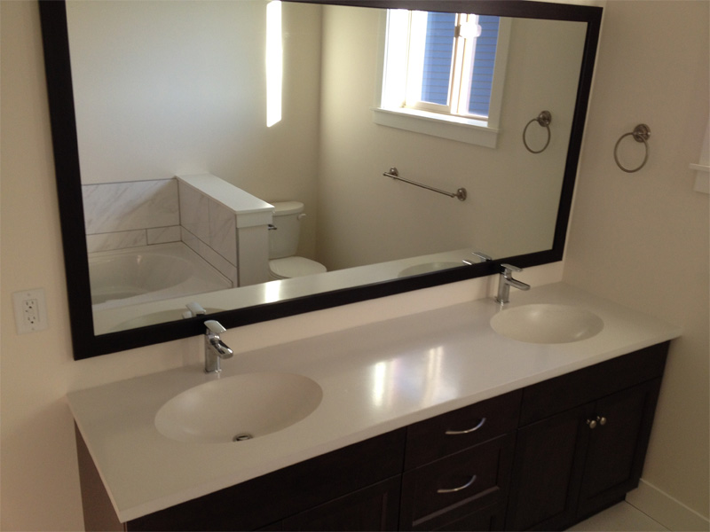 Dual Concrete Sink and Counter - Diamond Finish