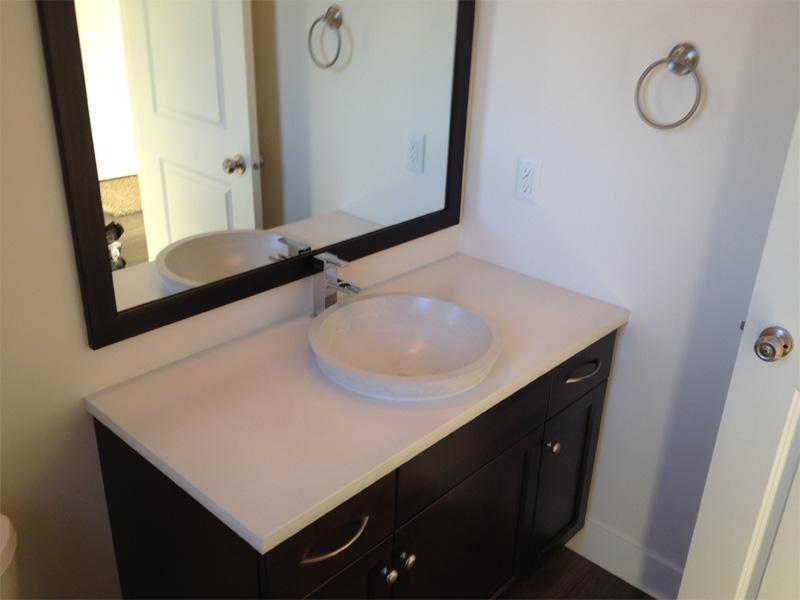 Concrete Round Raised Sink - Diamond Finish