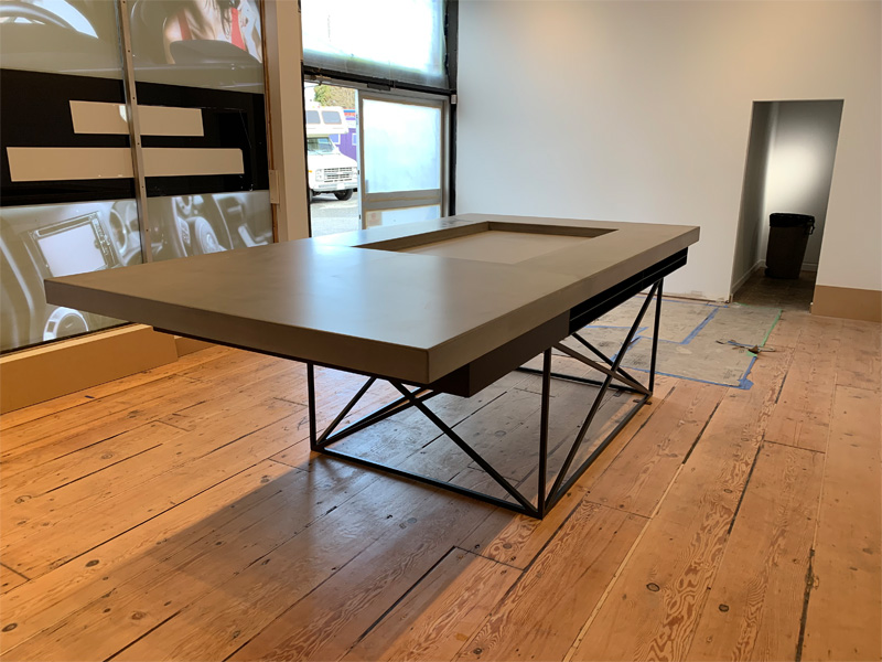 Work Space Concrete Utility Table - Diamond Finish