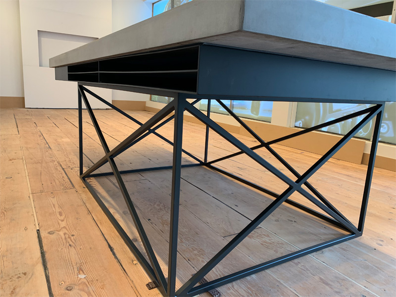 Work Space Concrete Table - Diamond Finish