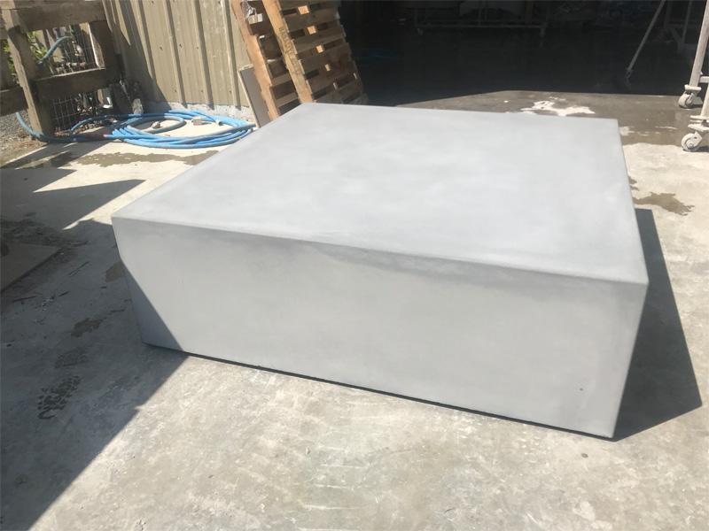 Square Concrete Coffee Table - Diamond Finish