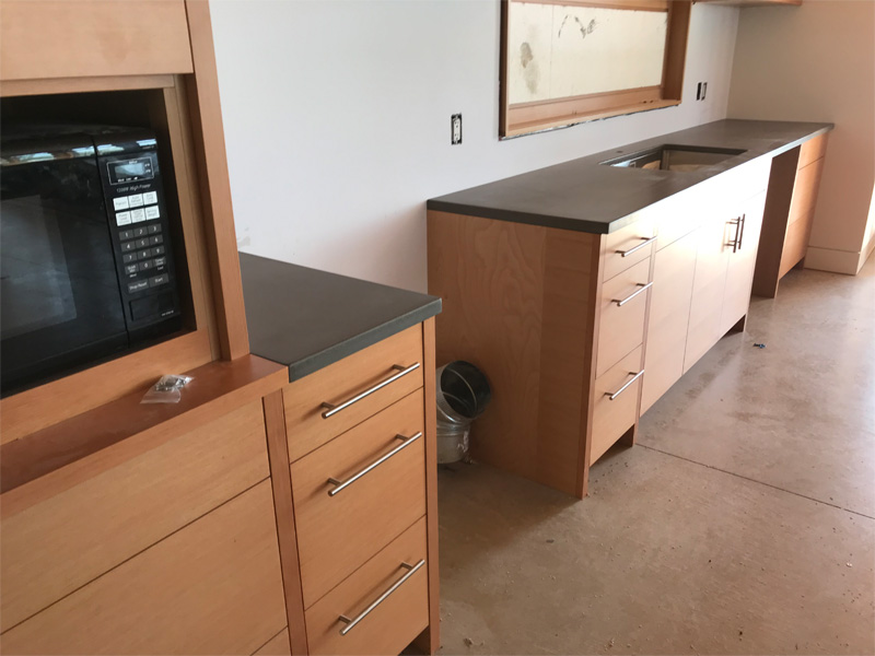 Concrete Countertops for Kitchens - Diamond Finish
