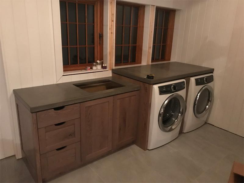 Laundry Room Countertop Space - Diamond Finish