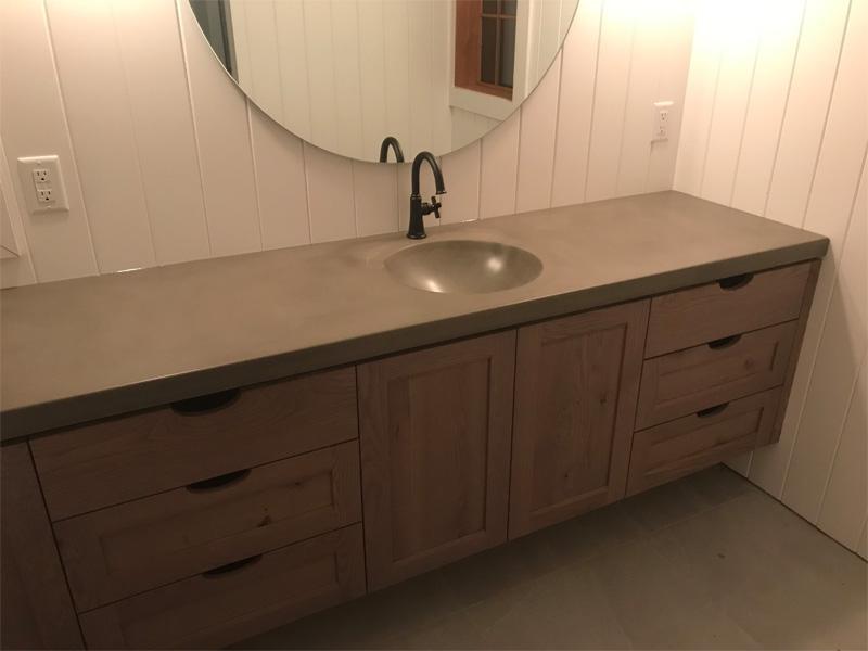 Bathroom Concrete Countertops - Diamond Finish