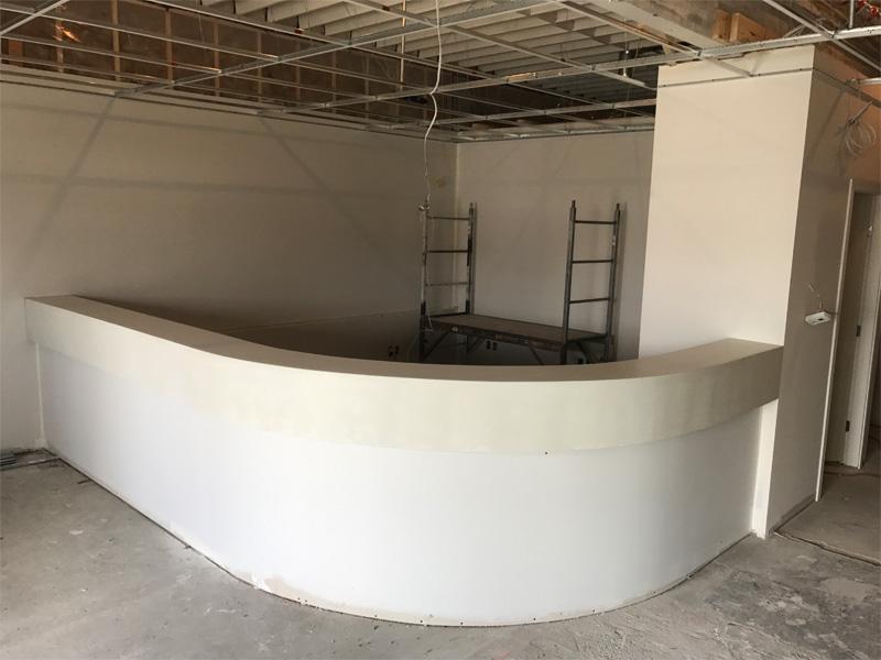 Office Reception Concrete Countertops - Diamond Finish