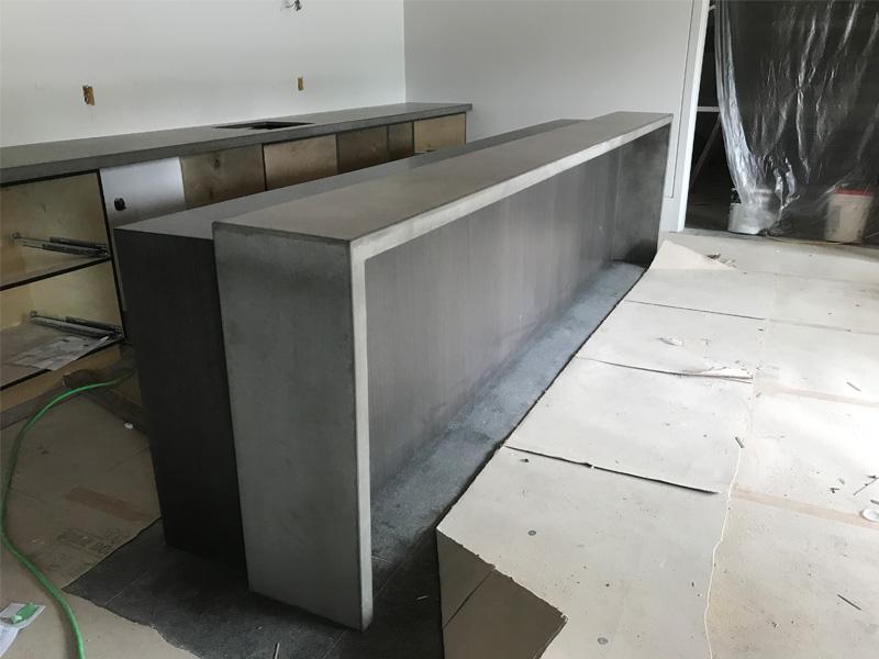 Custom Countertops Made With Concrete - Diamond Finish