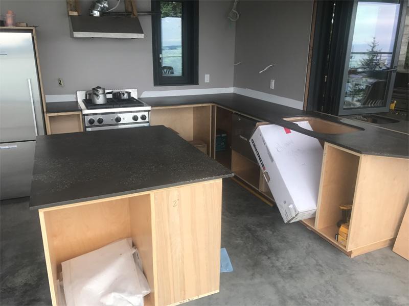 Custom Kitchen Countertop Space - Diamond Finish