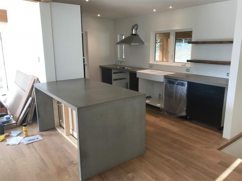 Kitchen Island Countertop - Diamond Finish