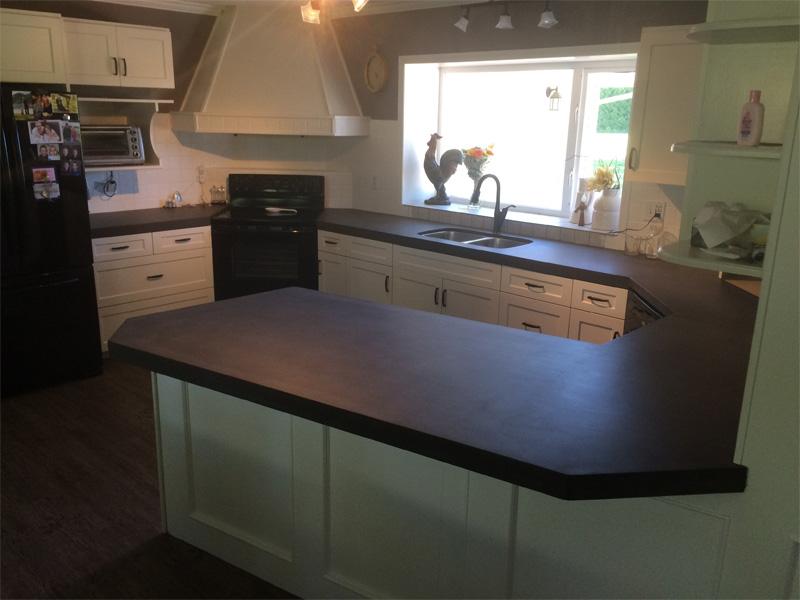 Kitchen Oval Countertop - Diamond Finish