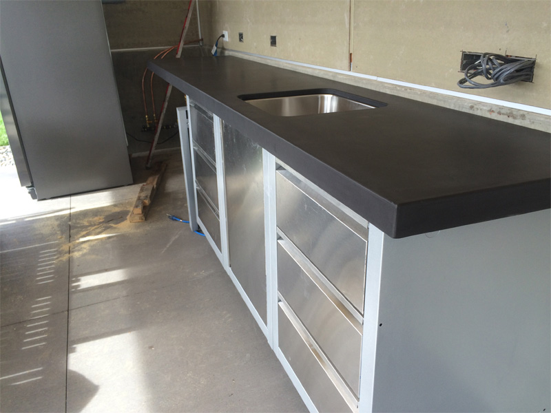 Outdoor Kitchen Countertop - Diamond Finish