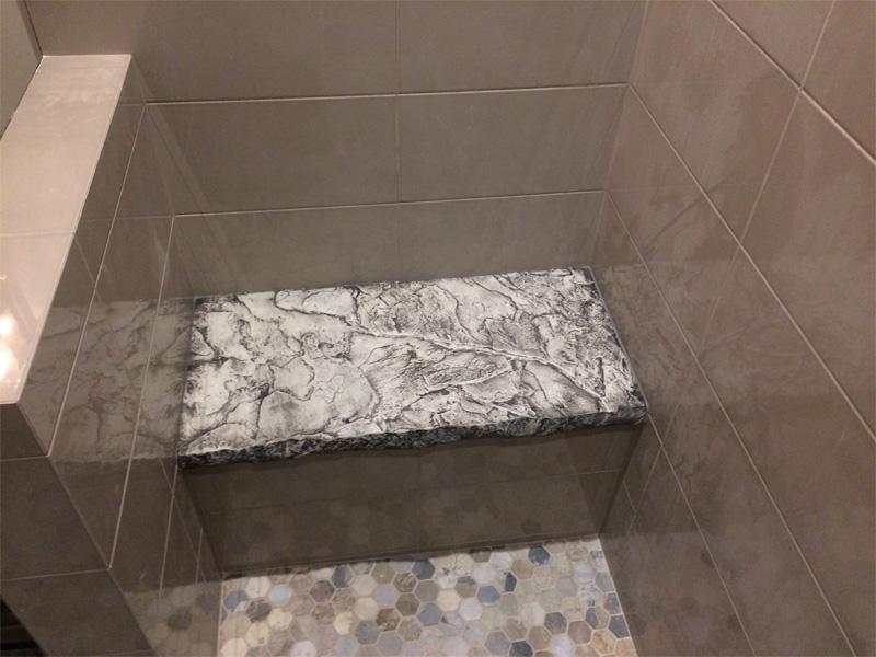 Shower Bench - Diamond Finish