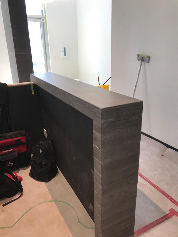 Office Concrete Walls - Diamond Finish