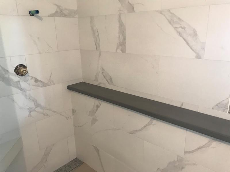 Elegant Marble Shower Enclosure - Diamond Finish