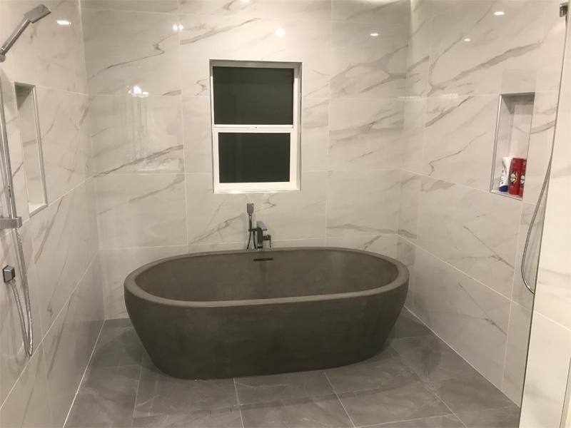 Concrete Bathtub Vessel - Diamond Finish