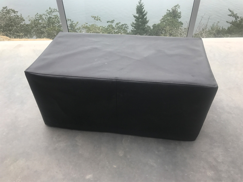 Deck Fire Table with Cover - Diamond Finish