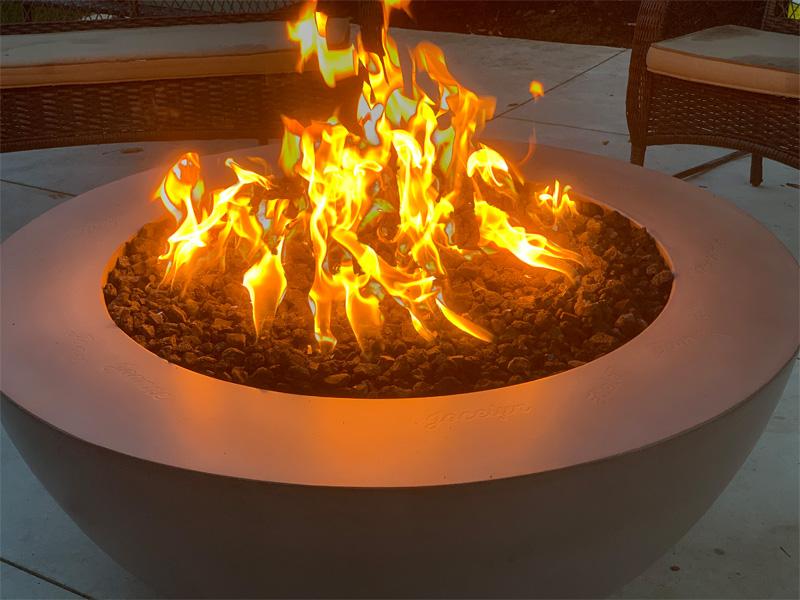Fire Pit - Diamond Finish Concrete Countertops