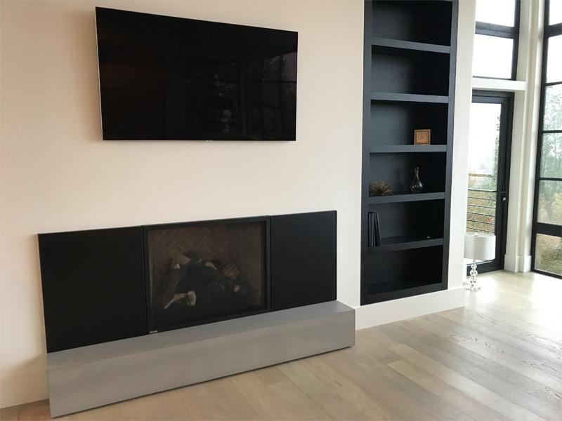 Fireplace Base Custom Concrete - Diamond Finish