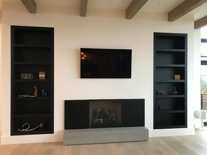 Concrete Fireplace Base - Diamond Finish Concrete Countertops