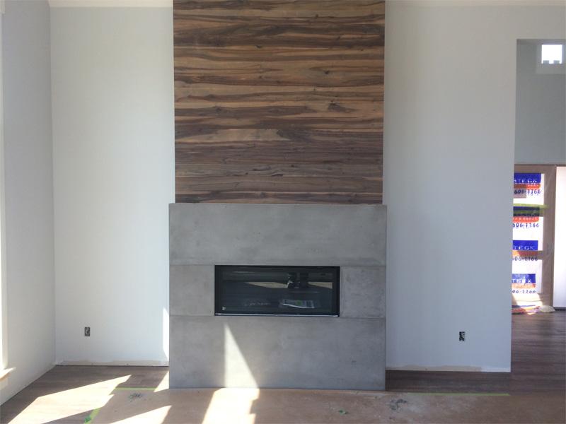 Custom Concrete Fireplace - Diamond Finish Concrete Countertops