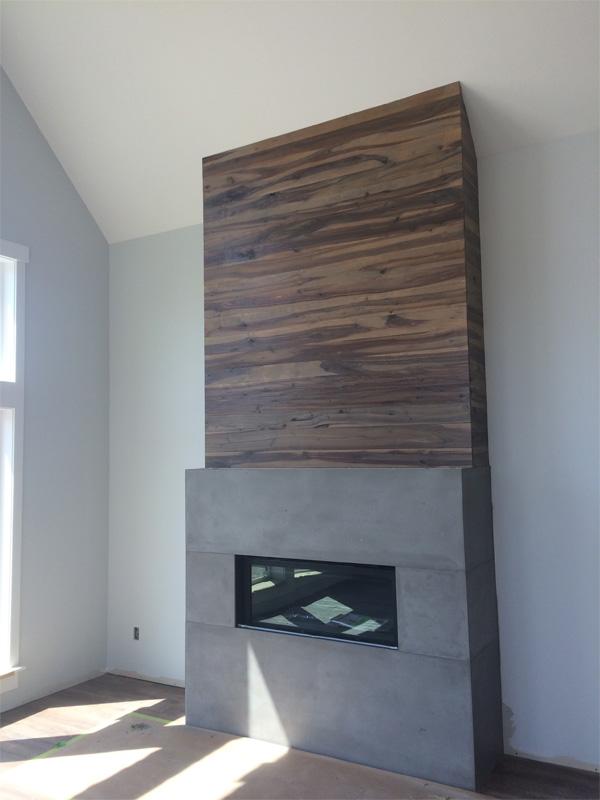 Elegant Fireplace Custom Concrete - Diamond Finish Concrete Countertops