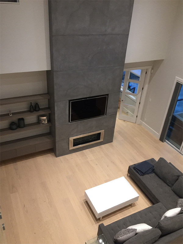 Concrete Fireplace Surround - Diamond Finish